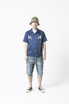Human Made by Nigo shows how to California! #mensfashion #menswear #50s #mensstyle #fashion #men #lookbook #ss16 #trend #mode #tendance #pe16 #summer #style #clohting #bedwin #denimshirt #chillout #buckethat #hat #bucket #california #denim #skate #denim #converse #myconverse