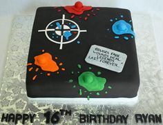 Paintball Legends Dogtag 16th Birthday Cake