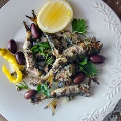 Grilled sardines with flavours of the Balkans