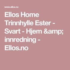 Ellos Home Trinnhylle Ester - Svart - Hjem & innredning - Ellos.no
