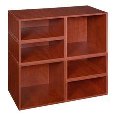 Niche Cubo Storage Set 2 Full Cubes 4 Half Warm Cherry