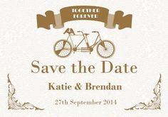Just for Two Save the Date Card in Bronze - DreamDay Invitations