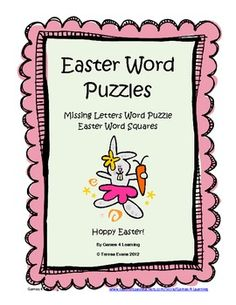 2 FREE Easter Word Puzzles for kids from Games 4 LearningThese printable Easter word puzzles will challenge children as they play around with Easter words. ...