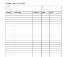Inventory Count Sheet Template Double Entry Bookkeeping
