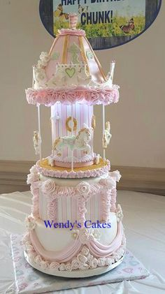 Merry Go Round Cake by Wendy Begy -