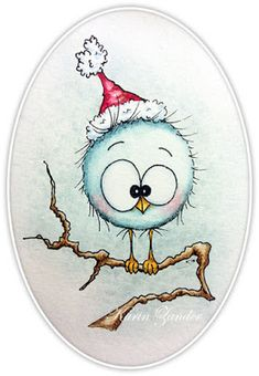 not Crazy Bird stamps but I like the coloring Christmas Drawing, Christmas Paintings, Christmas Pictures To Draw, Christmas Decorations Drawings, Christmas Watercolour, Christmas Rock, Christmas Crafts, Merry Christmas, Cottage Christmas