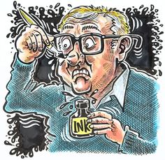 SOMETIMES I WONDER why I became a caricaturist. Caricaturist is not an easy word to spell. There is always the much easier 'cartoonist' or 'illustrator' Words To Spell, Perfectly Clear, Easy S, Sometimes I Wonder, His Hands, Caricature, Spelling, The Twenties, News