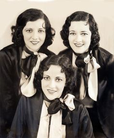 love this photo of the boswell sisters