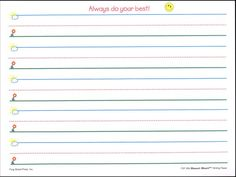 print kindergarten writing paper | Handwriting paper template to use ...