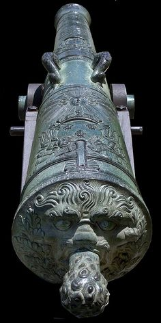 Baroque Cannon - this is another example fo something which is potentially dangerous, but has been changed into a beautiful piece.