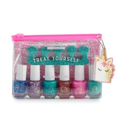 Simple Pleasures Unicorn nail polish set, sorted The very first apply of Kids Nail Polish, Water Based Nail Polish, Nail Polish Sets, Nail Polish Colors, Glitter Toes, Unicorn Nails, Girls Nails, Types Of Nails, Perfect Nails