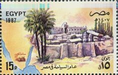 Catherine's Monastery, Mt. Sinai (Egypt) (Tourism Year) Mi:EG Egypt Tourism, Love Post, Historical Photos, Postage Stamps, Egyptian, Postcards, Religion, Letters, Culture
