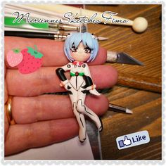 Rei Ayanami/Asuka Sōryū Langley Evangelion by MarienneCreations, available #etsy #nge #evangelion #handmade #fimo #polymerclay #ayanami #asuka #langley #rei