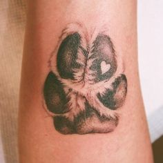 This animal memorial tattoo is a detailed, realistic .- This animal memorial tattoo is a detailed, realistic drawing of a dog paw print … - Body Art Tattoos, Small Tattoos, Paw Print Tattoos, Tattoos For Pets, Dog Paw Tattoos, Drawing Tattoos, Baby Owl Tattoos, Best Tattoo Ink, Tattoos For Dog Lovers