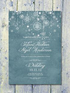 Set of 100 -  Winter Memory Garden Wedding Invitation and Reply Card Set - Wedding Stationery - ID100