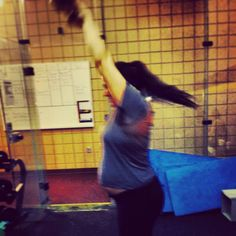 ME! 7mo pregnant with (light) kettlebell swings  www.fitmommylife.com