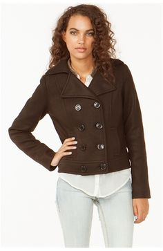Classic Cropped Peacoat