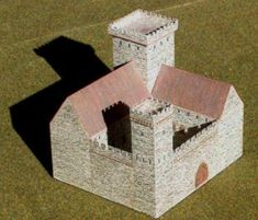 Medieval Castle for Diorama Free Building Paper Model Download