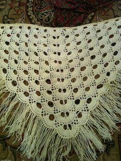 Xale em crochet com gráfico