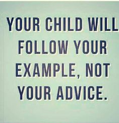 Advice and example come cohesively….