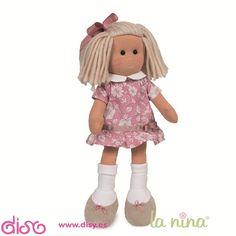 Muñecas de trapo La nina Marta vestido rosa. PVP: 18.95€. Puedes Comprar en: http://www.disy.es/munecas/munecas-de-trapo/munecas-de-trapo-la-nina.html