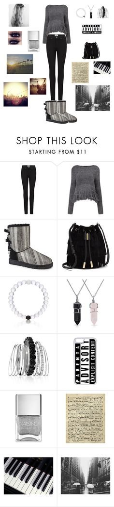 """""""Music"""" by draaayya ❤ liked on Polyvore featuring Paige Denim, Rachel Comey, UGG Australia, Vince Camuto, Everest, Bling Jewelry, Avenue, CellPowerCases, Nails Inc. and Art Classics"""