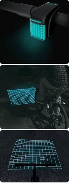 For those who love night rides: bike light that let you know what the ground is like in the dark.