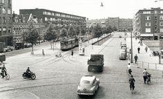 De kruising Bergweg-Schieweg-Walenburgerweg-Schiekade in 1952