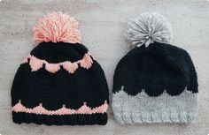 lovely hats @ ITSETEHTY PIPO X 2 ~ NO HOME WITHOUT YOU Knitted Hats, Knit Crochet, Kids Fashion, Beanie, Wool, Sewing, Knitting, Diy, Black Caps