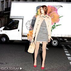 Digital collage fashion illustration for Warehouse/Warestyle and Elle UK by Elizabeth Rachael