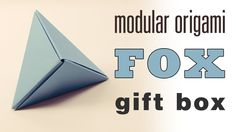 This is an easy tutorial for the origami 'Fox Box'. This model makes a perfect gift box and can be hung as a decoration or as a garland :) ⬇︎ Expand for more...