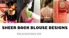 more interesting elements to your blouse back like the super in trend tassels. Strictly suited for designer sarees this tassel detailed back is sure gonna make you a party show stealer