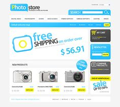 Photo Store Magento Themes by Hermes