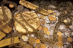 Treasure salvaged by the Fisher team from the Atocha and the Santa Margarita, Spanish ships...