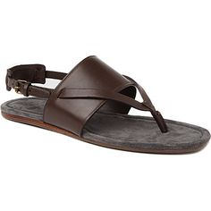 Discover fresh new styles from the most iconic menswear designers, including trainers, t-shirts, suits, coats and jackets at Selfridges. Male Sandals, Men's Sandals, Brown Sandals, Male Fashion, Huaraches, Lanvin, Dj, Slippers, Menswear