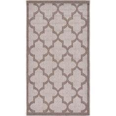 Unique Loom Light Grey Polypropylene Indoor/Outdoor Trellis Rug (2'7 x 4'9) (2' 7 x 4' 9), Brown, Size 3' x 5'