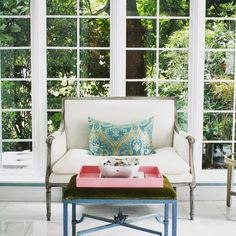 Stunning sunroom / home office with loads of natural light pouring in all day long.