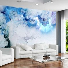 Custom Any Size Mural Blue Cloud Wallpaper Living Room Background Wall Decoration Waterproof Photo Papel De Parede Cheap Wallpaper, Cloud Wallpaper, Custom Wallpaper, Photo Wallpaper, Cool Wallpapers For Walls, 3d Wallpaper Blue, 3d Wallpaper For Walls, Vintage Wallpapers, Paper Wallpaper