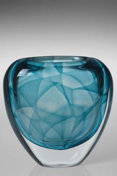 Vicke Lindstrand Colora Vase for Kosta