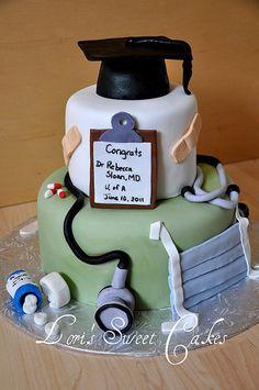 Medical Graduation cake   by Lori's Sweet Cakes