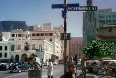 40 Wonderful Color Photographs Capture Street Scenes of Cape Town, South Africa from between the and ~ vintage everyday Hanover Street, Cape Town South Africa, Countries Of The World, Vintage Photographs, Around The Worlds, Street View, City, 1950s, History