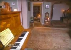In the tour of his home George Michael points out the piano which he says is his favourite thing in the house