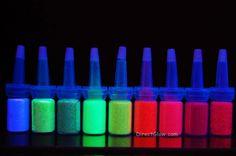 DirectGlow Cosmetic UV Blacklight Reactive Glitter Powders #DirectGlowLLC