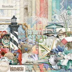 Digital Scrapbook Kit, Shoreline by Kimeric Kreations