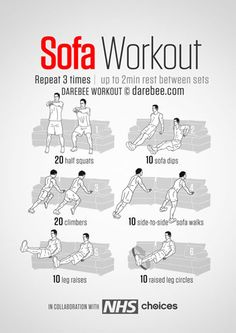 Neila rey on pinterest 30 day challenge ab workouts and for Sofa workout