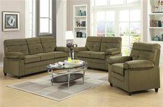 Alicia Brown Velvet Fabric Living Room Set