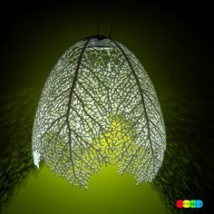 DIY lamp made with leafs