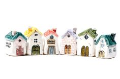 Items similar to Seller's pick on Etsy ,clay houses Clay Houses, Ceramic Houses, Miniature Houses, Ceramic Clay, Cardboard Houses, Miniature Dolls, Doll Houses, Clay Projects, Clay Crafts