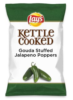 "Gouda Stuffed Jalapeno Poppers - Can I get an ""Ohhhellzyeah""  #GoudaCheese #Jalapenos #StuffedJalapenos #Chips #Lays #DoUsAFlavor"