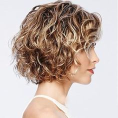 Curly Hair Cuts, Curly Bob Hairstyles, Curly Wigs, Long Curly Hair, Hairstyles With Bangs, Short Hair Cuts, Curly Hair Styles, Gorgeous Hairstyles, Wedding Hairstyles